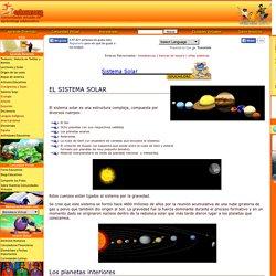 Información de nuestro Sistema Solar y sus componentes.