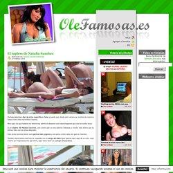 El topless de Natalia Sanchez