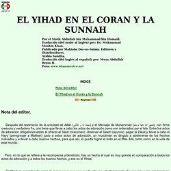 EL YIHAD EN EL CORAN Y LA SUNNAH