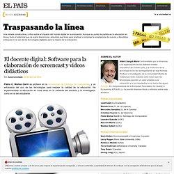 El docente digital: Software para la elaboración de screencast y vídeos didácticos >> Traspasando la línea