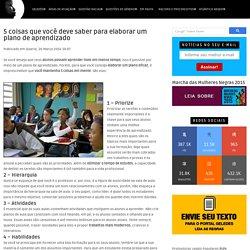 5 coisas que você deve saber para elaborar um plano de aprendizado - Portal Geledés