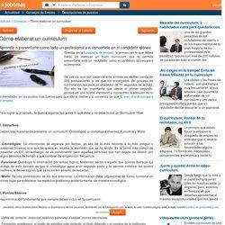 Cómo elaborar un currículum - Jobomas.com