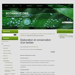 Elaboration et conservation d'un herbier - BOTANIQUE