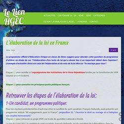 L'élaboration de la loi en France - le lien hgec