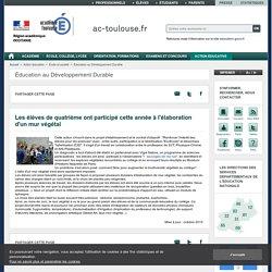Elaboration d'un mur végétal au collège Jean Rostand d'Eauze (32), E3D