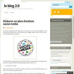Elaborer un plan d'actions social média