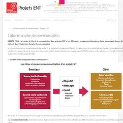 Élaborer un plan de communication » Projets ENT