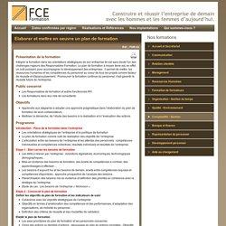 Elaborer et mettre en oeuvre un plan de formation - Formations - FCE Formation
