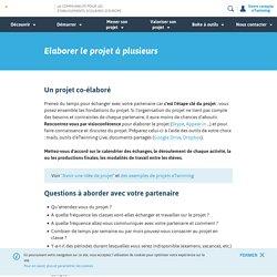 Elaborer le projet à plusieurs- www.etwinning.fr
