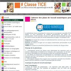 Élaborer des plans de travail numériques pour les élèves