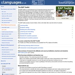 eLanguages.ac.uk - eap toolkit