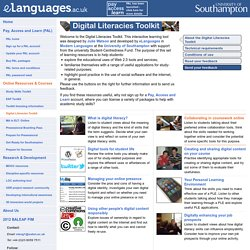 eLanguages.ac.uk - digital literacies toolkit