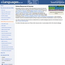 eLanguages.ac.uk - online resources & courses