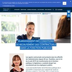 Élargissement des conditions de recrutement des contractuels dans la Fonction publique - BFM : Banque Française Mutualiste