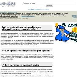 L'élargissement de l'assiette de la fiscalité indirecte par l'instauration de la taxe sur la valeur ajoutée(TVA) en remplacement de l'impôt sur le chiffre d'affaires(ICA) en RDC republique democratique du congo - Christian-Laurent BETU MU