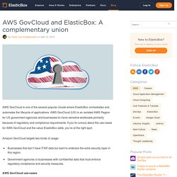 AWS GovCloud and ElasticBox: A complementary union