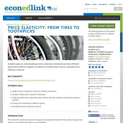 Price Elasticity: From Tires to Toothpicks