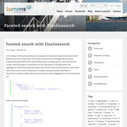 Faceted search with Elasticsearch - Luminis Amsterdam : Luminis Amsterdam