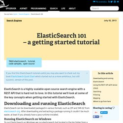 ElasticSearch 101 - A getting started tutorial