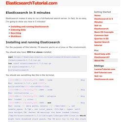 Elasticsearch in 5 minutes - Elasticsearch Tutorial.com
