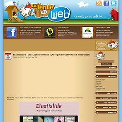 Elastislide - Un slider d'images élastique en responsive webdesign