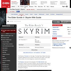 Skyrim Wiki Guide & Walkthrough
