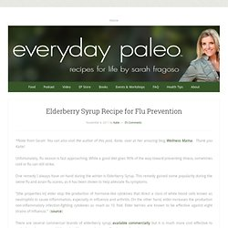 Elderberry Syrup Recipe for Flu Prevention