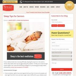 Ways Elderly Can Combat Sleep Challenges