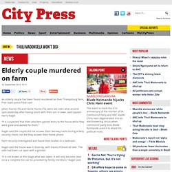 Elderly couple murdered on farm