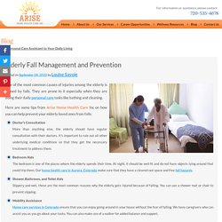 Elderly Fall Management and Prevention