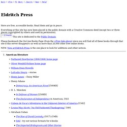 Eldritch Press