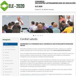 CONGRESO ENCUENTRO LATINOAMERICANO DE EDUCACIÓN - ELE 2020
