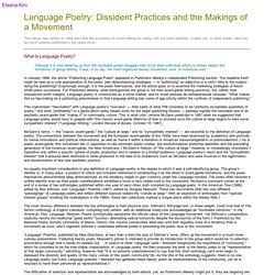 Eleana Kim on Language Poetry 1