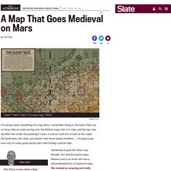Eleanor Lutz created a medieval-style map of Mars.