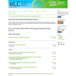 eLearn Center Research Paper Series