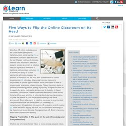 Five Ways to Flip the Online Classroom on Its Head
