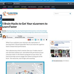 5 Brain Hacks to Get Your eLearners to Learn Faster