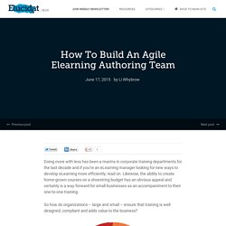 How To Build An Agile Elearning Authoring Team – Elucidat Blog
