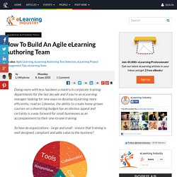 How To Build An Agile eLearning Authoring Team