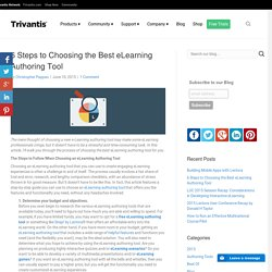 6 Steps to Choosing the Best eLearning Authoring Tool