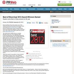 Best of Elearning! 2012 Award-Winners Named