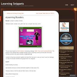 eLearning Blunders