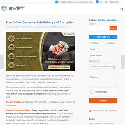 Free Online elearning Course on Anti-bribery and Corruption