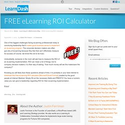 FREE eLearning ROI Calculator