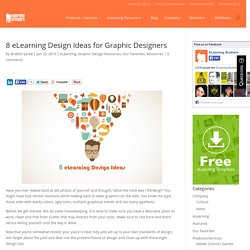 8 eLearning Design Ideas for Graphic Designers
