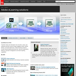 eLearning Solutions - E-Learning Software and Tools for