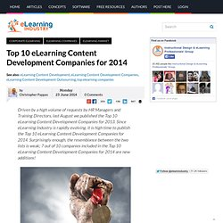 Top 10 eLearning Content Development Companies for 2014