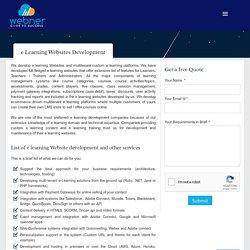 eLearning Development Services, Custom eLearning Development