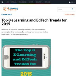 Top 8 eLearning and EdTech Trends for 2015