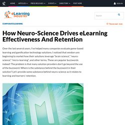 How Neuro-Science Drives eLearning Effectiveness And Retention